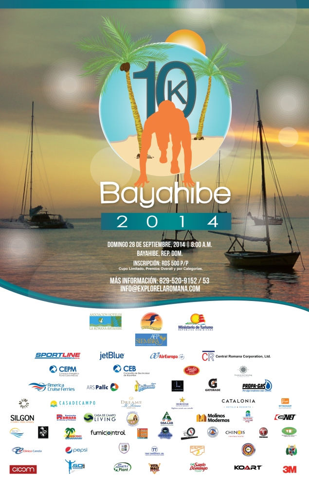Afiche-Flyer Bayahibe 10K- septiembre